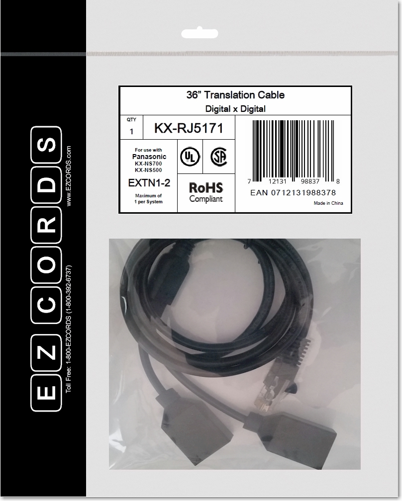 KX-RJ5171 EZCORD for Built-In EXT1-2
