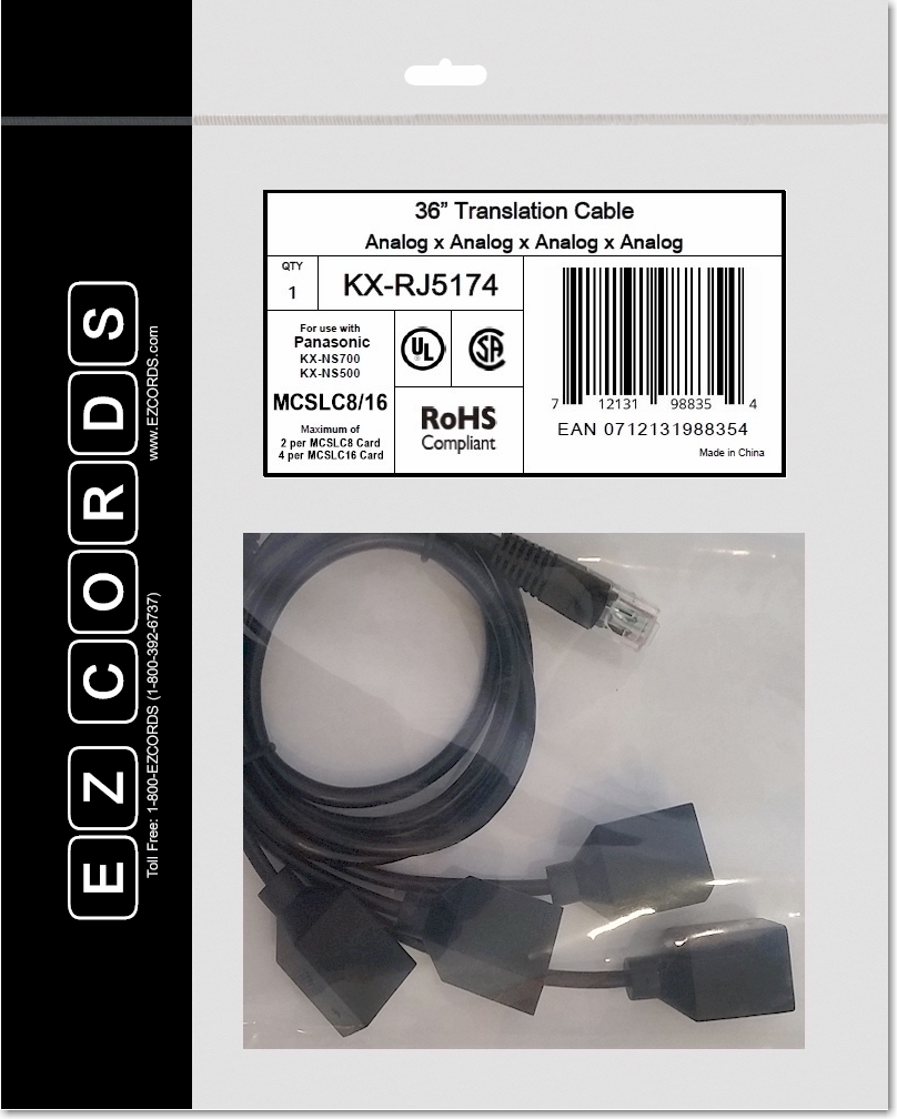 Ezcords Model Kx Rj5174 Analog Line Card Wiring Harness For Rj45 Diagram Ezcord Ns5173 And Ns5174