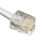 GCLB666007 7' Flat Line Cord 6P6C Silver