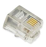Mod Handset Plugs Flat 4P4C 100PK