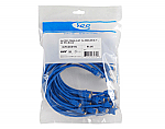 25 PK PATCH CORD, CAT 5e, 1', BLUE