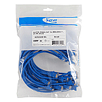 25 PK PATCH CORD,CAT 6,MOLDED,5' BLUE