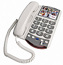 54400 Amplified Picture Phone 26dB White